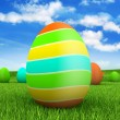 Easter eggs on beautiful nature background — Stock Photo #8861766