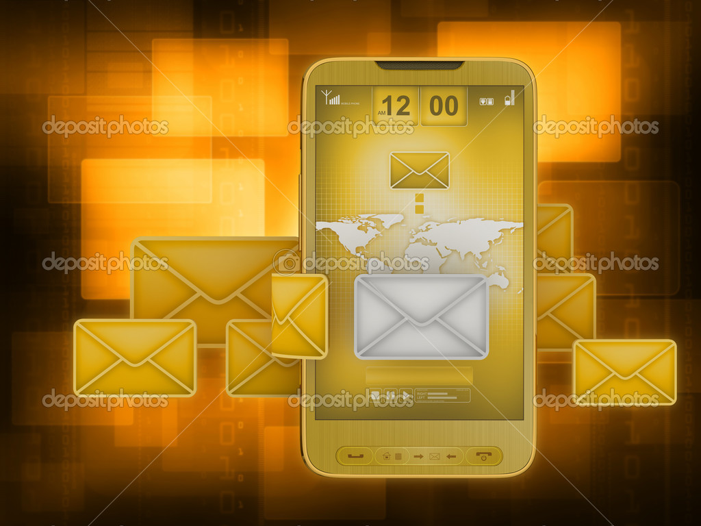 Short Message Service (SMS) & Mobile internet on cell phone — Stock Photo #8940069