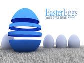 Huevos de pascua - ilustración abstracta — Foto de Stock