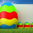Easter - colored eggs — Stock Photo