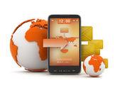 Short Message Service (Sms) - koncepce ilustrace — Stock fotografie