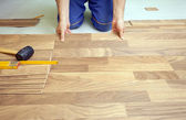 Floor installation — Stock Photo
