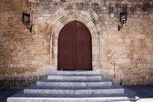 Ancient castle door — Stock Photo