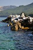 Rock Coastline at Greece island Thassos — Stock Photo