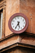 Street clock in Rome, Italy — Stock Photo