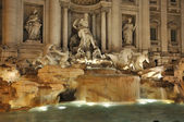 Trevi fountain by night — Stock Photo