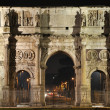 Arch of Constantin at night - Foto Stock