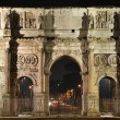 Arch of Constantin at night — Stock Photo