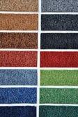 Samples of carpet colors — Stock Photo