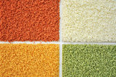 Samples of carpet color — Stock Photo