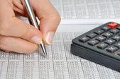 Dati financila — Foto Stock