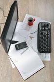 Office Work Desk — Stock Photo