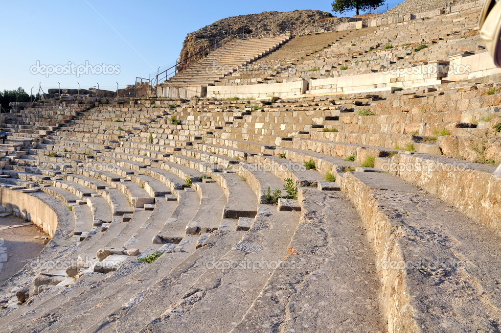 Antic Ephesus theathre, with seats for 25,000 . Constructed during the 1st century BC — Stock Photo #8176861