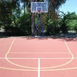 Stock Photo: Basketball court