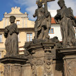 Jesus statue on Charles bridge, Prague — Stock Photo #8198624
