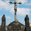 Christ Statue on the Charles bridge, Prague — Stock Photo