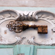 Stock Photo: Old house number, Prague