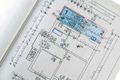Architectural house plan — Stockfoto