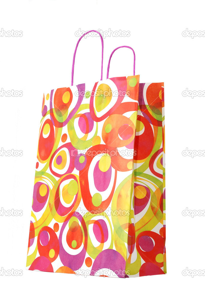 Color paper gift bag — Stock Photo #8213756