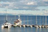 Boats in marine — Stock Photo