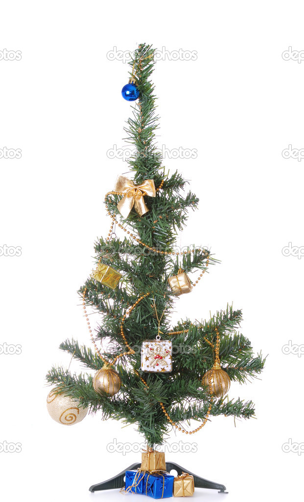 Christmas tree isolated on white background — Stock Photo #8227582