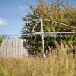 Backyard Clothesline - Stock Photo