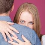 Woman and Man Hugging — Stock Photo