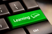 E-öğrenme kavramı. bilgisayar klavye — Stok fotoğraf