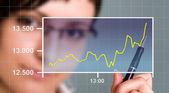 Watching the Chart — Stock Photo
