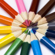 Colored pencil wheel. Pencils isolated. — Stock Photo #8537662