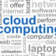Cloud Computing Word — Stock Photo