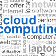 Stock Photo: Cloud Computing Word