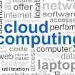 Cloud Computing Word — Stock Photo