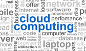Cloud computing Wort — Stockfoto