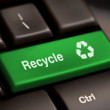 Recycle symbol on a Computer keyboard — Stock Photo #8784357