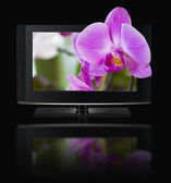 3D television. TV LCD in HD 3D. — Stock Photo