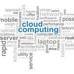Cloud Computing Word — Stock Vector