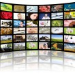 Television production concept. TV movie panels — Stock Photo #8868847
