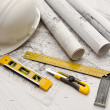 Blueprint, Work Tool — Stock Photo #9083034