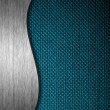Metal and fabric material template background — Stockfoto
