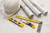 Blueprint, Work Tool — Stock Photo