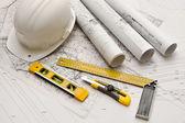Blueprint, Work Tool — Stock Photo