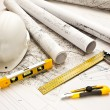 Blueprint, Work Tool — Stock Photo #9263616