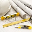 Blueprint, Work Tool — Stock Photo #9291525