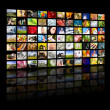 Television production concept. TV movie panels — Stock Photo #9446529
