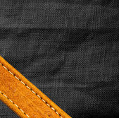 Leather and textile background — Stock Photo