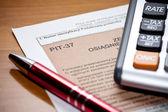 Polish Tax form. Accounting — Stock Photo