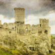 Old castle ruins in Poland in Europe - Stock Photo