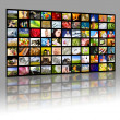 Television production concept. TV movie panels — Stock Photo #9624764