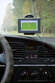 Navigazione gps in auto di viaggiare — Foto Stock